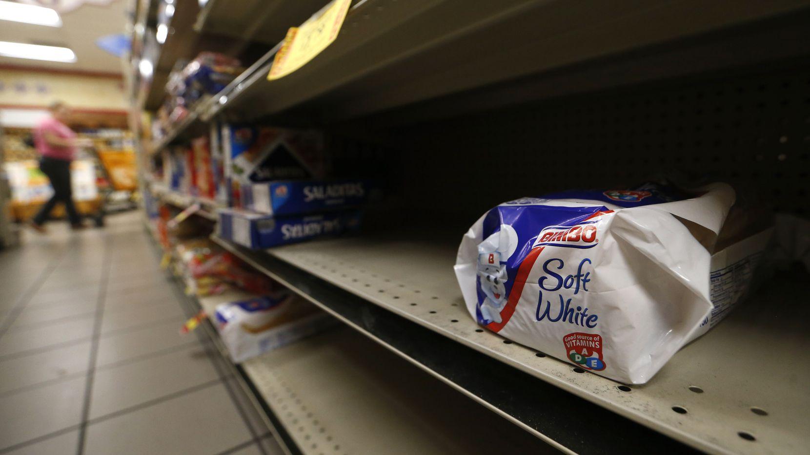 Bread was in short supply at La Michoacana Meat Market near the BIshop Arts District in north Oak Cliff on Saturday.