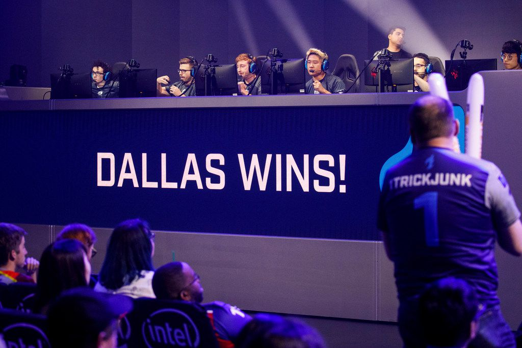 TKTKTKTKTK during the Overwatch League match between the Dallas Fuel and LA Gladiators on Friday, August 9, 2019 at Blizzard Arena in Burbank, CA. (Photo by Patrick T. Fallon/Special Contributor to The Dallas Morning News)