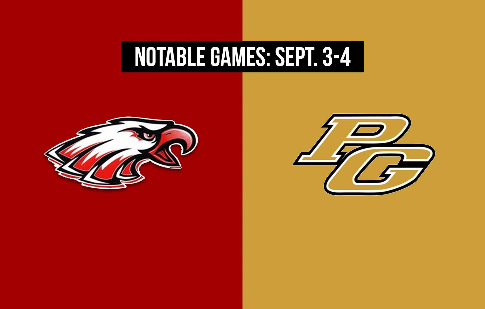 Notable games for the week of Sept. 3-4 of the 2020 season: Argyle vs. Texarkana Pleasant Grove.