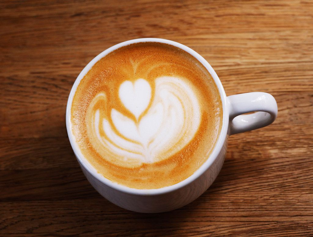 A cup of Latte at Local Press + Brew in Dallas on Monday, September 25, 2017. (David Woo/The Dallas Morning News)