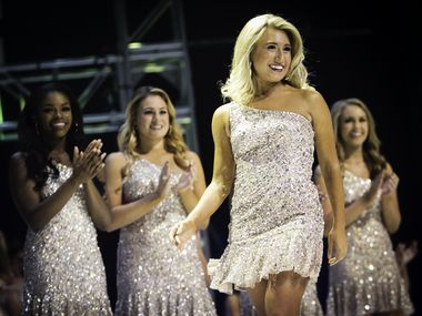 Katelyn Marak of Dallas walks across the stage during the Miss Texas Scholarship Competition at the Eisemann Center in Richardson, Texas on Saturday, July 1, 2017.
