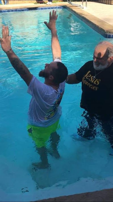 Leon Birdd baptized Jeremy Lydick in January in a friend's ice-cold swimming pool. Lydick had recently been released from prison.