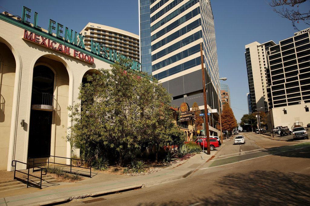 The land housing El Fenix Mexican Restaurant, Meso Maya and Taqueria La Ventana is up for sale. Its operators say that even if a high-rise is built there, they plan to continue to operate the restaurants.