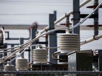 Una subestación de distribución de energía eléctrica en East Dallas.