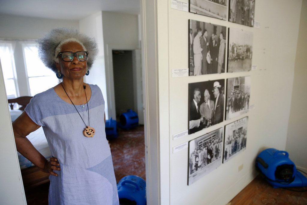 Marilyn Clark, who works at the South Dallas Cultural Center, gave a tour Saturday -- shortly before a pipe burst in the attic, flooding the Craft House.