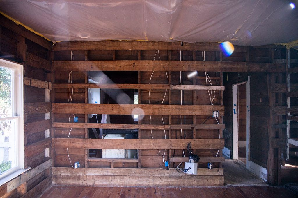 This is what the inside of the Juanita Craft House looked like in July 2019, more than a year after a pipe burst int the attic and flooded the bungalow.