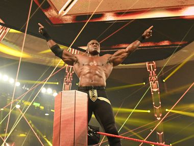 WWE's Bobby Lashley enters the ring on an episode of Monday Night Raw.
