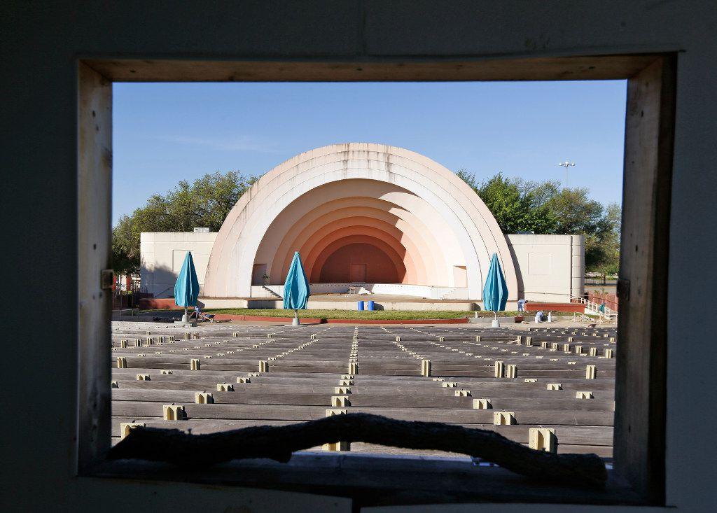 The Fair Park band shell (Nathan Hunsinger/Staff Photographer)