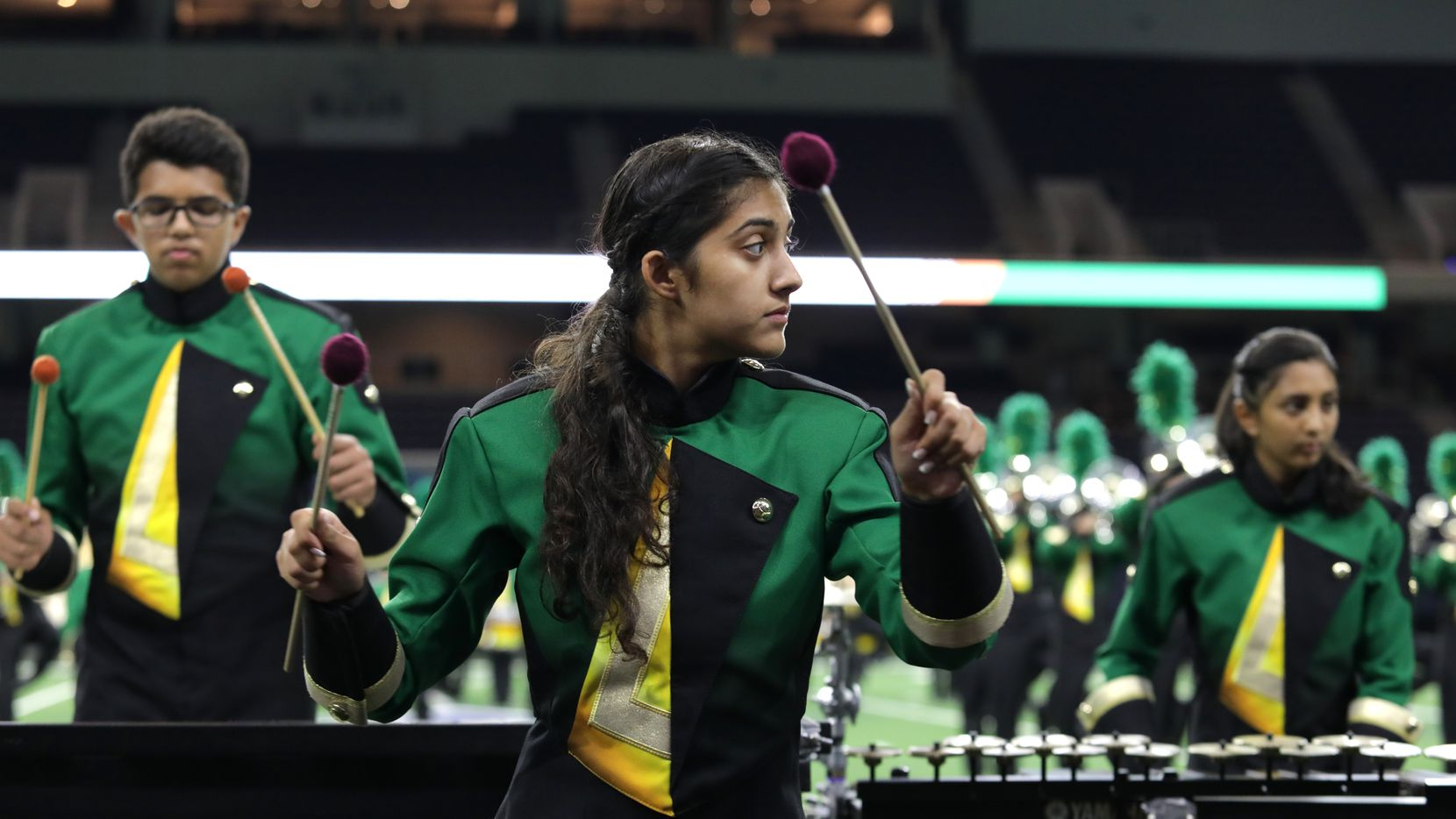 Lebanon Trail High School performs during the fourth annual Frisco ISD Marching Band Showcase in October.