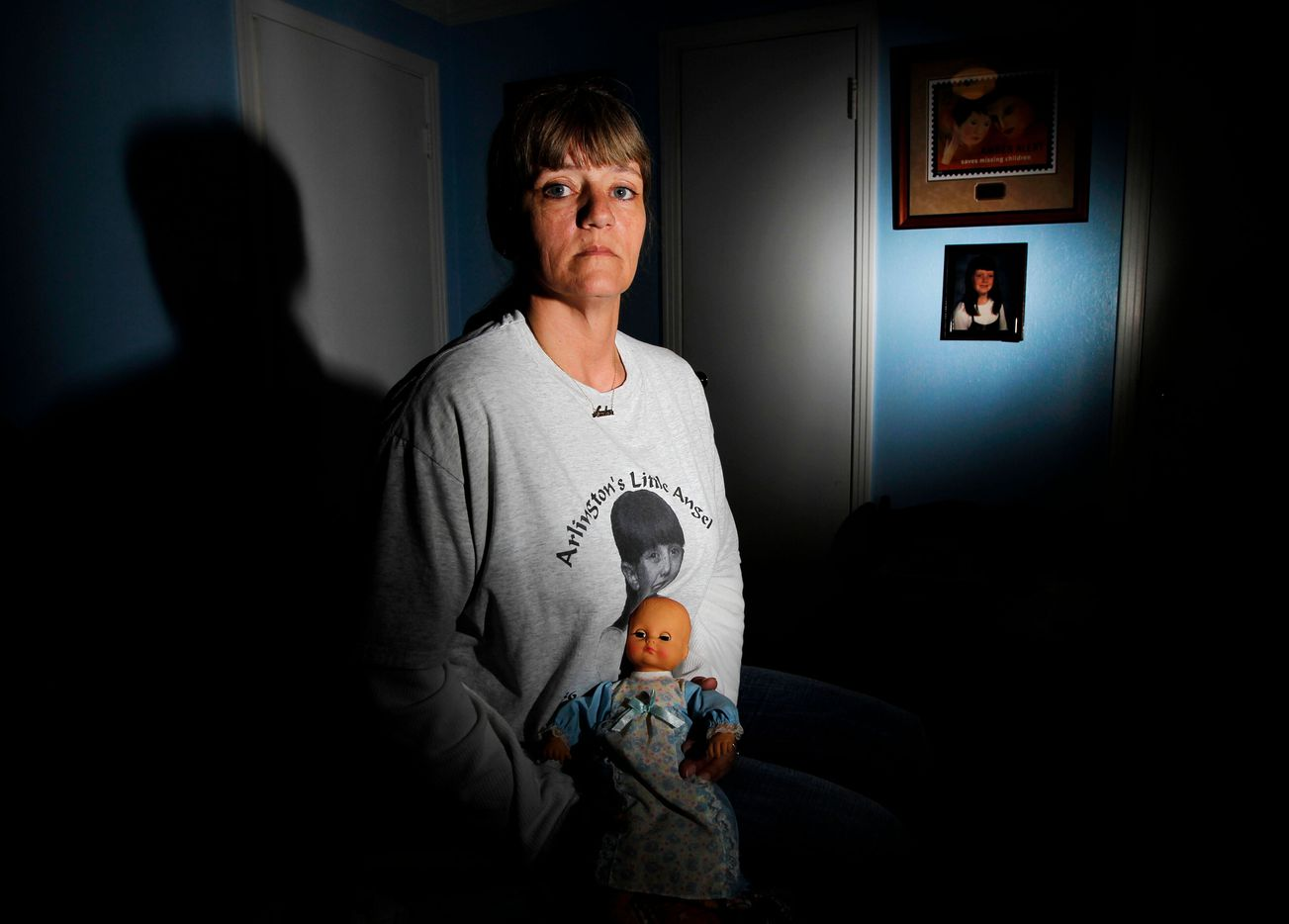 Near the 15 year anniversary of her daughter Amber Hagerman being abduction and killed, Donna Norris sits among Amber's belongings in her Hurst, Texas, home on January 10, 2011.
