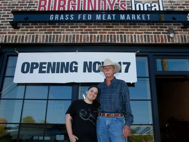 Jon Taggart and daughter Patsy Taggart are getting close to the November 17th opening of the Dallas location of Burgundy's Local Grass Fed Meat Market on Ross Avenue.