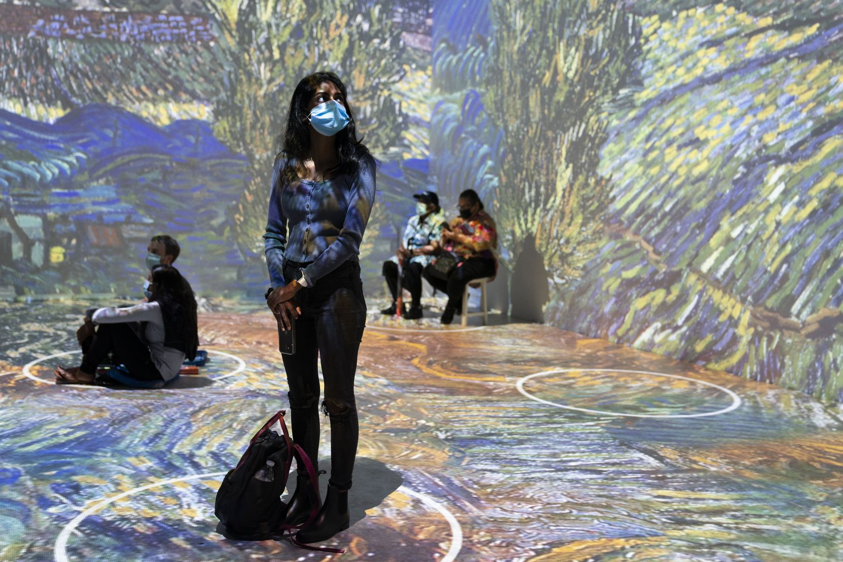 """Projections of selected works of celebrated painter Vincent Van Gogh were displayed at a preview of the """"Immersive Van Gogh"""" exhibit on June 4 in New York."""