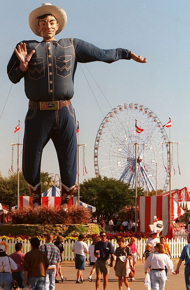 Big Tex photographed at the State Fair of Texas in 1997.