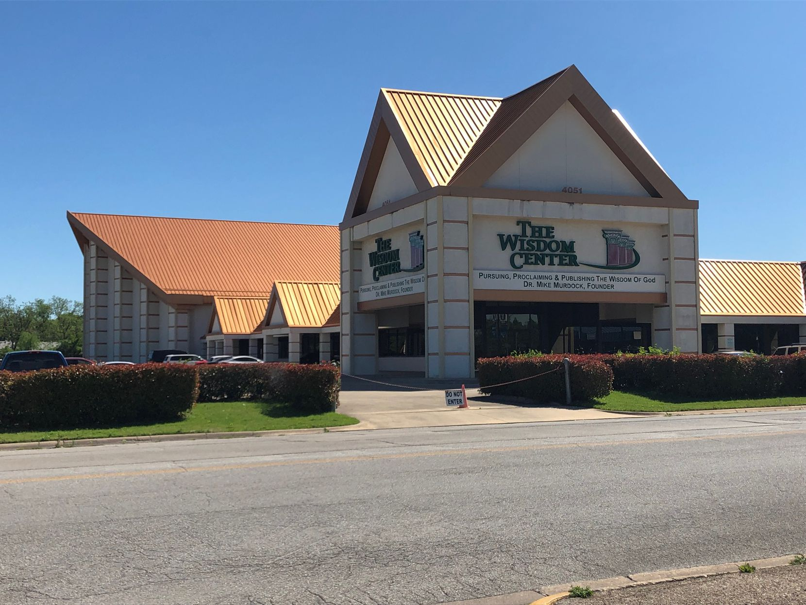 The Wisdom Center on Denton Highway in Haltom City is Mike Murdock's base of operations for what he describes as his worldwide ministry. The complex is 135,000 square feet, he says.