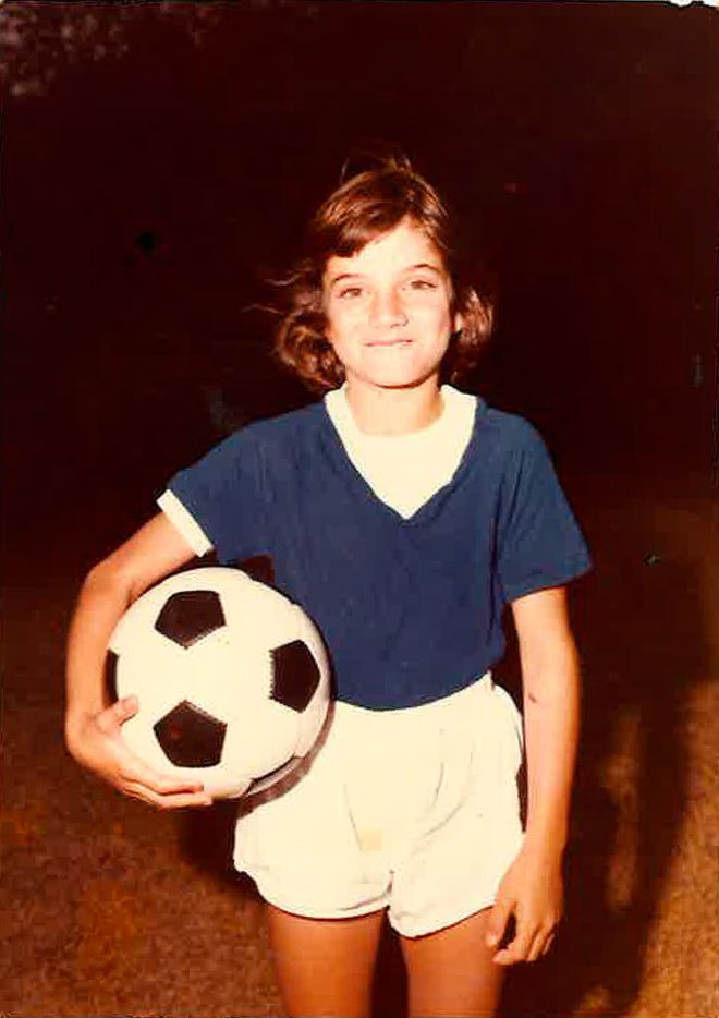 Laura Anton, shown in an undated photo, started playing soccer in first grade.