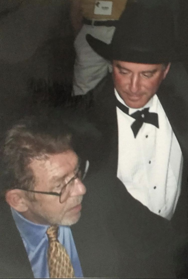 You can tell by the look in Dave Lieber's face how pleased he was that his writing mentor, Pete Hamill, had come to Grapevine in 2005 to accept a lifetime achievement award.