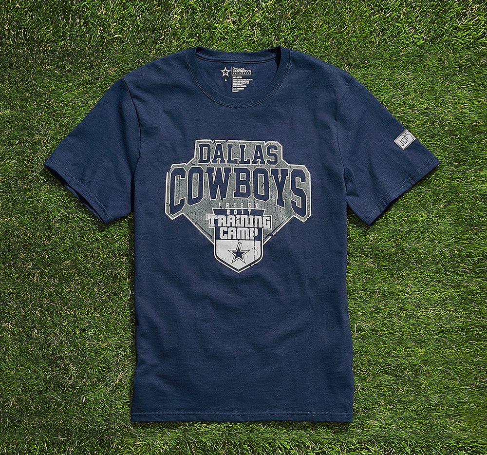 This T-shirt will get you into The Star, the Dallas Cowboys training camp in Frisco. Plano-based J.C. Penney and the Cowboys partnered for this promotion. The shirts will be sold at all 15 J.C. Penney stores in North Texas on Friday. J.C. Penney photo.