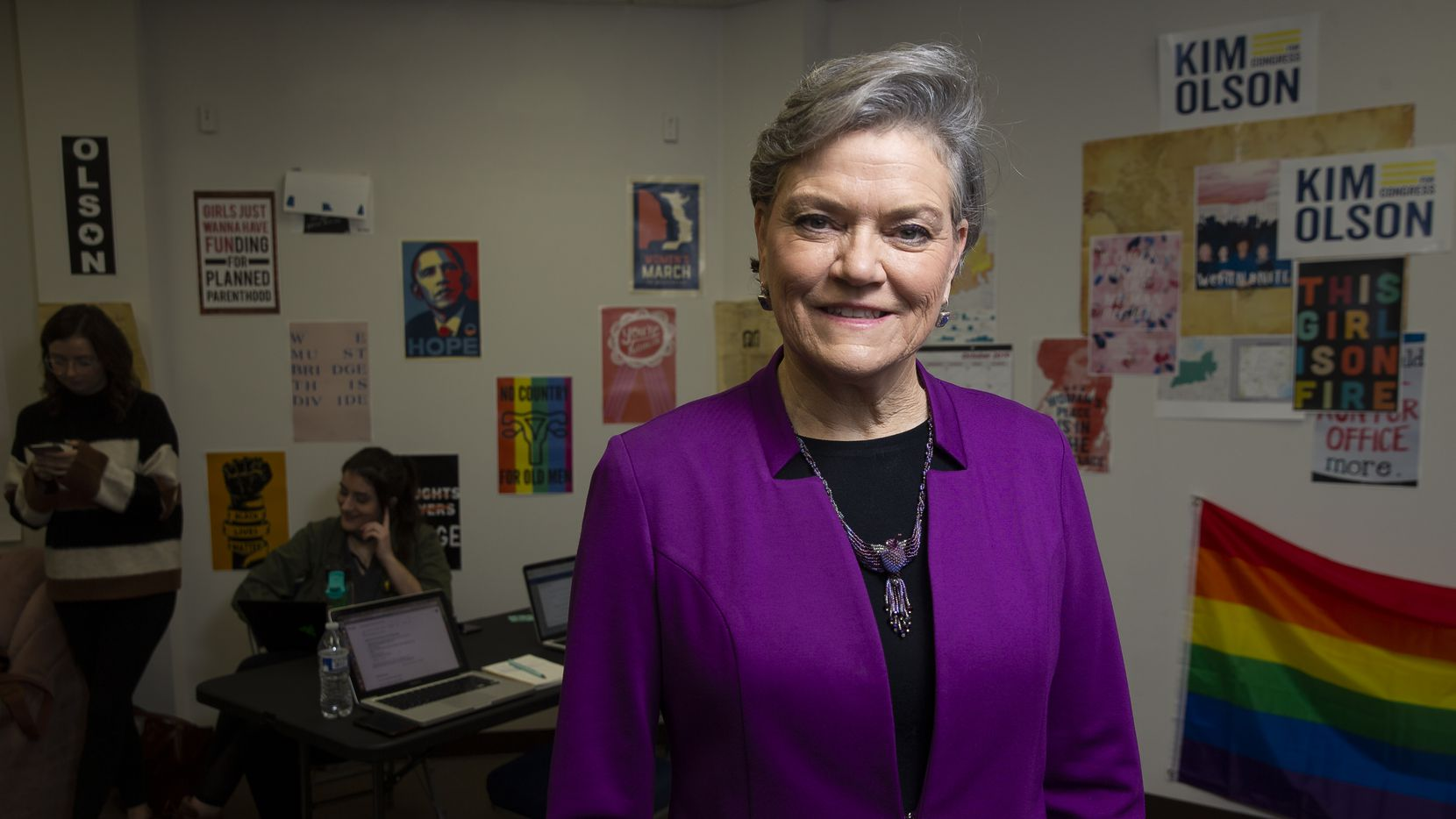 Curbing gun violence is among several issues Kim Olson has cited as reasons she's running for the 24th Congressional District.