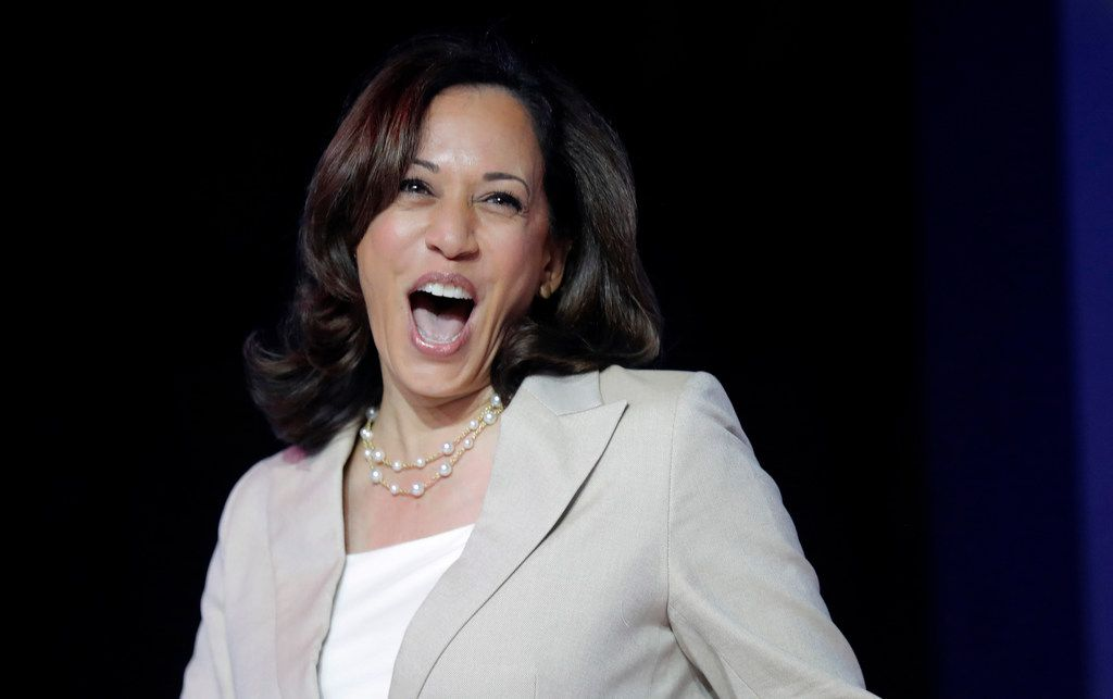 Democratic presidential candidate, Sen. Kamala Harris, D-Calif., arrives to speak at the 25th Essence Festival in New Orleans on  July 6, 2019. (AP Photo/Gerald Herbert)