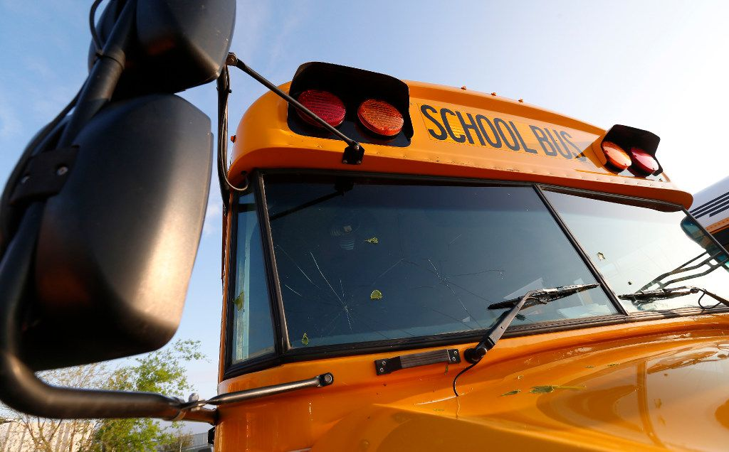 A school bus is pictured in this file photo. Mesquite ISD is asking parents to not allow children to go to school if they have any COVID-19 symptoms.