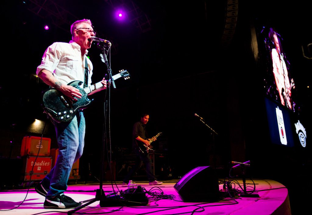 Vaden Todd Lewis, left, and the Toadies perform during the grand opening celebration for Texas Live.