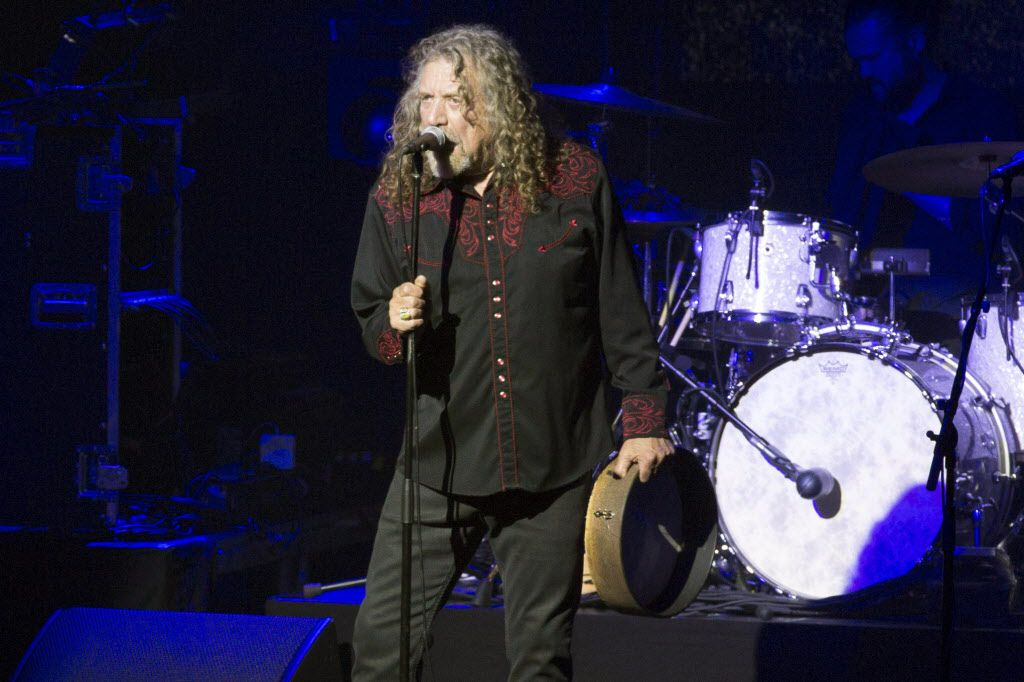Robert Plant performs with the Sensational Space Shifters at The Bomb Factory in Dallas, Texas, Tuesday, March 15, 2016. He didn't do the Led Zeppelin thing.