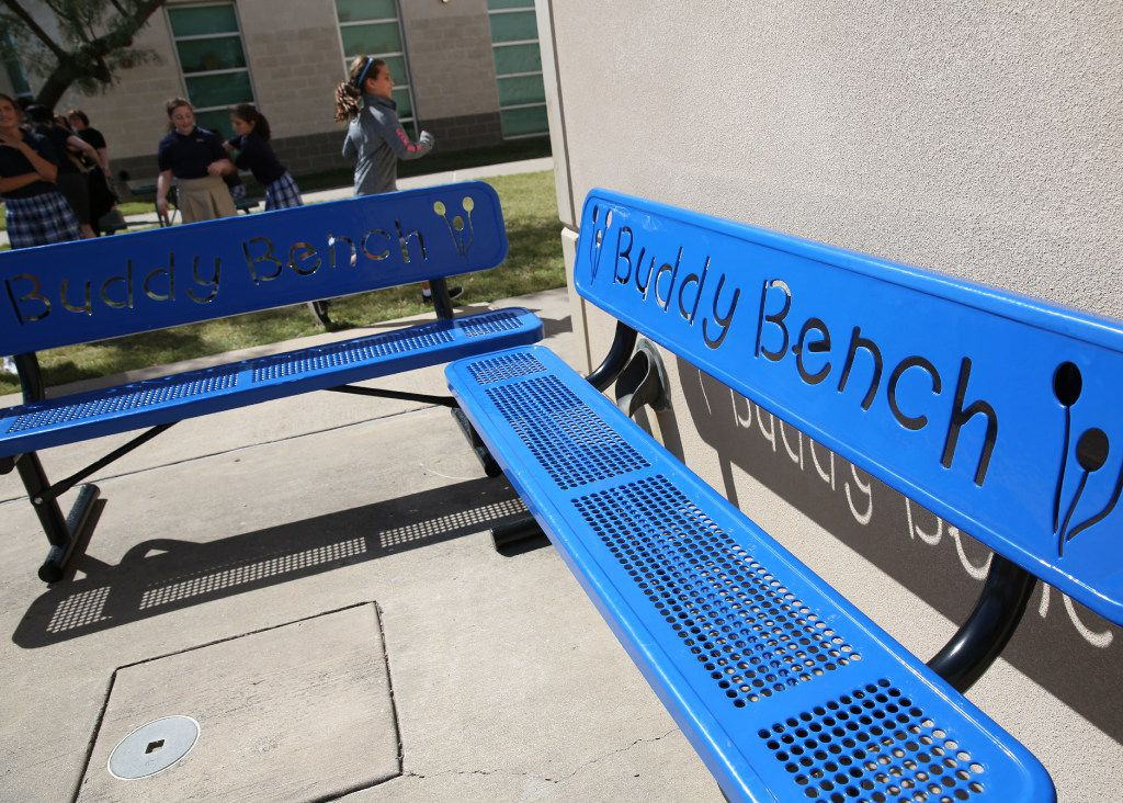 The first Buddy Bench was installed at an elementary school in Pennsylvania, and the idea has spread nationally over the last few years. Now, they're popping up at schools throughout the Dallas area.