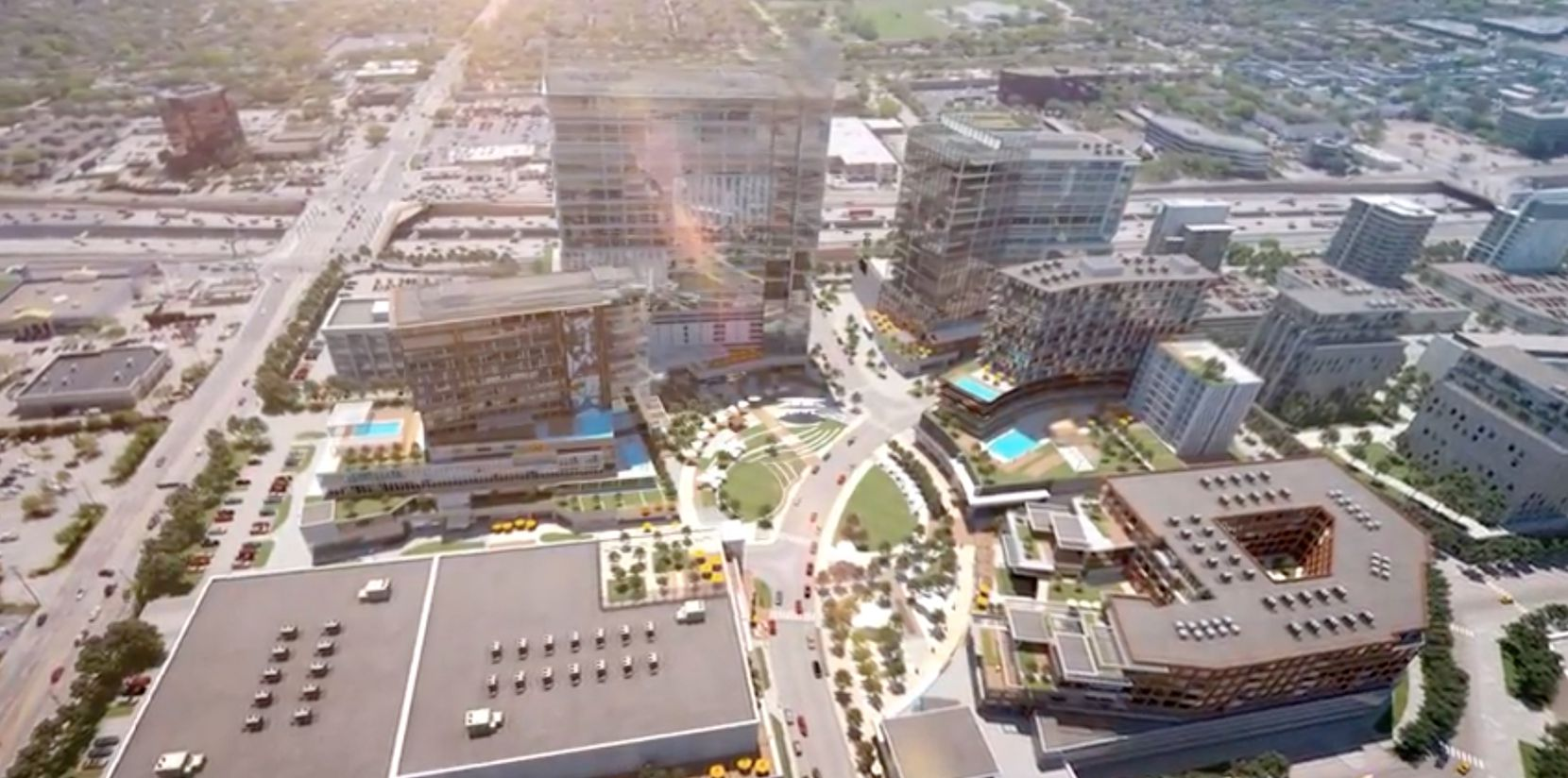 The mixed-use development would have a combination of high-rise and mid-rise buildings.