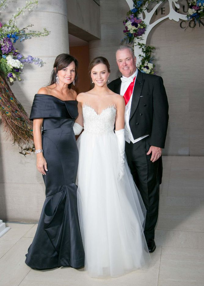 Debutante family Karen Jones, Caroline Jones and Stephen Jones are shown at the 31st Annual Dallas Symphony Orchestra League Presentation Ball February 18.