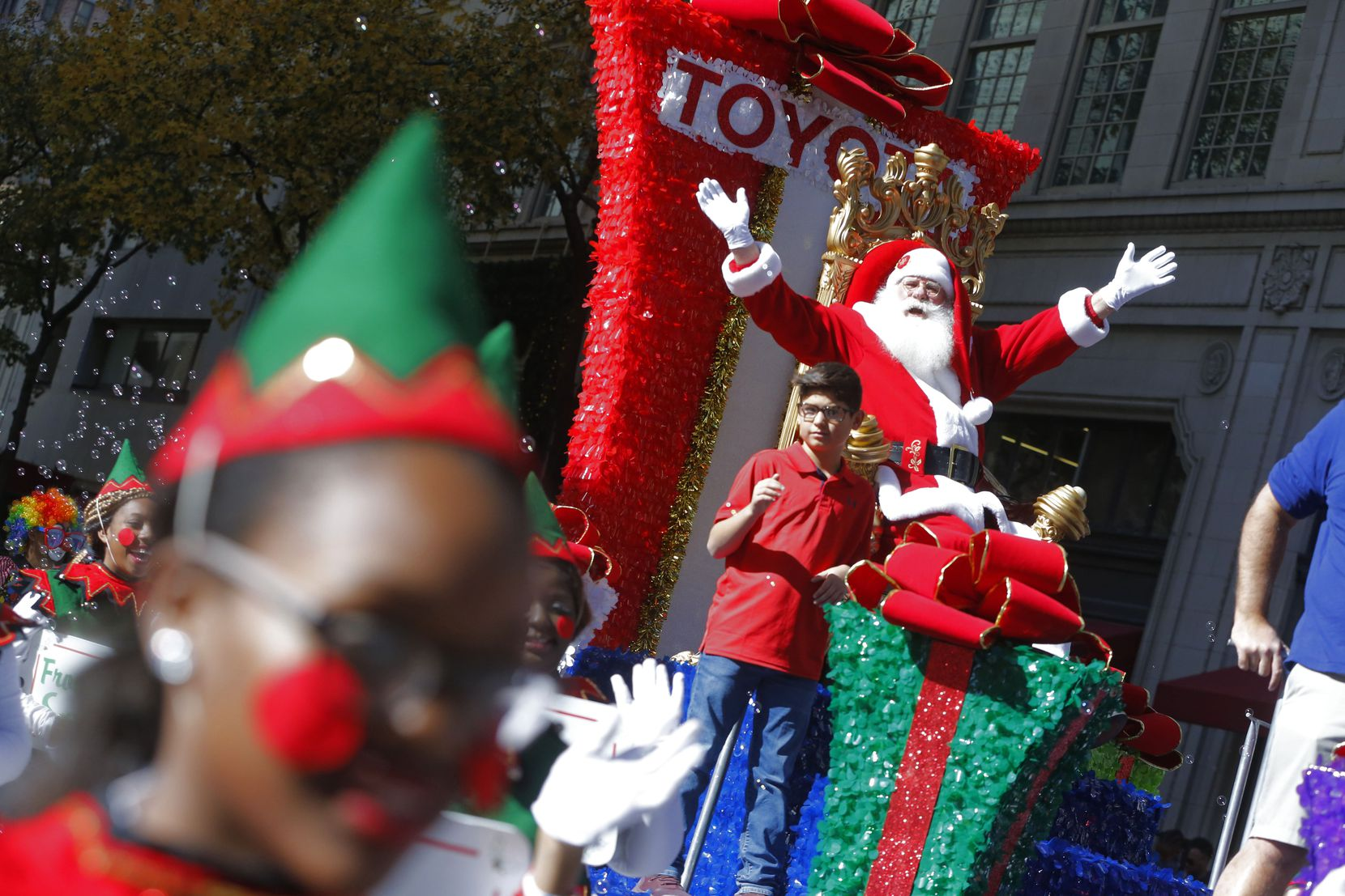 Keep an eye out for Santa at this year's Dallas parade on Dec. 7. The annual procession through downtown typically attracts hundreds of thousands of onlookers.