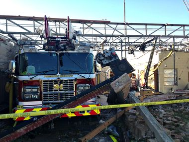 Fire Station 41, on Royal Lane near Preston Road, was completely devastated by the Oct. 21 tornado.