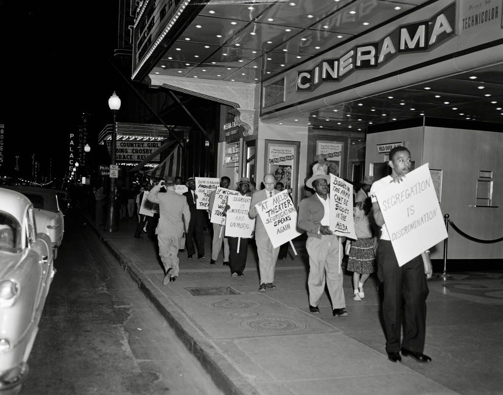In 1955, Craft led protests in front of the Melba Theater, as well as the Majestic, in downtown Dallas.