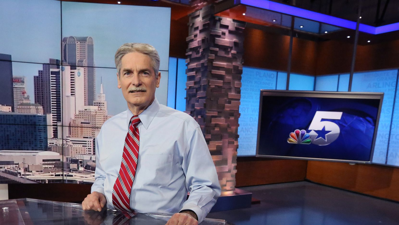 KXAS 5 NBC meteorologist David Finfrock is pictured at the station in Fort Worth, Texas on Thursday, January 25, 2018. (Louis DeLuca/The Dallas Morning News)