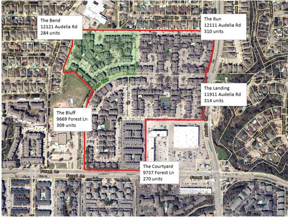The deal includes almost 1,500 apartments in several communities.