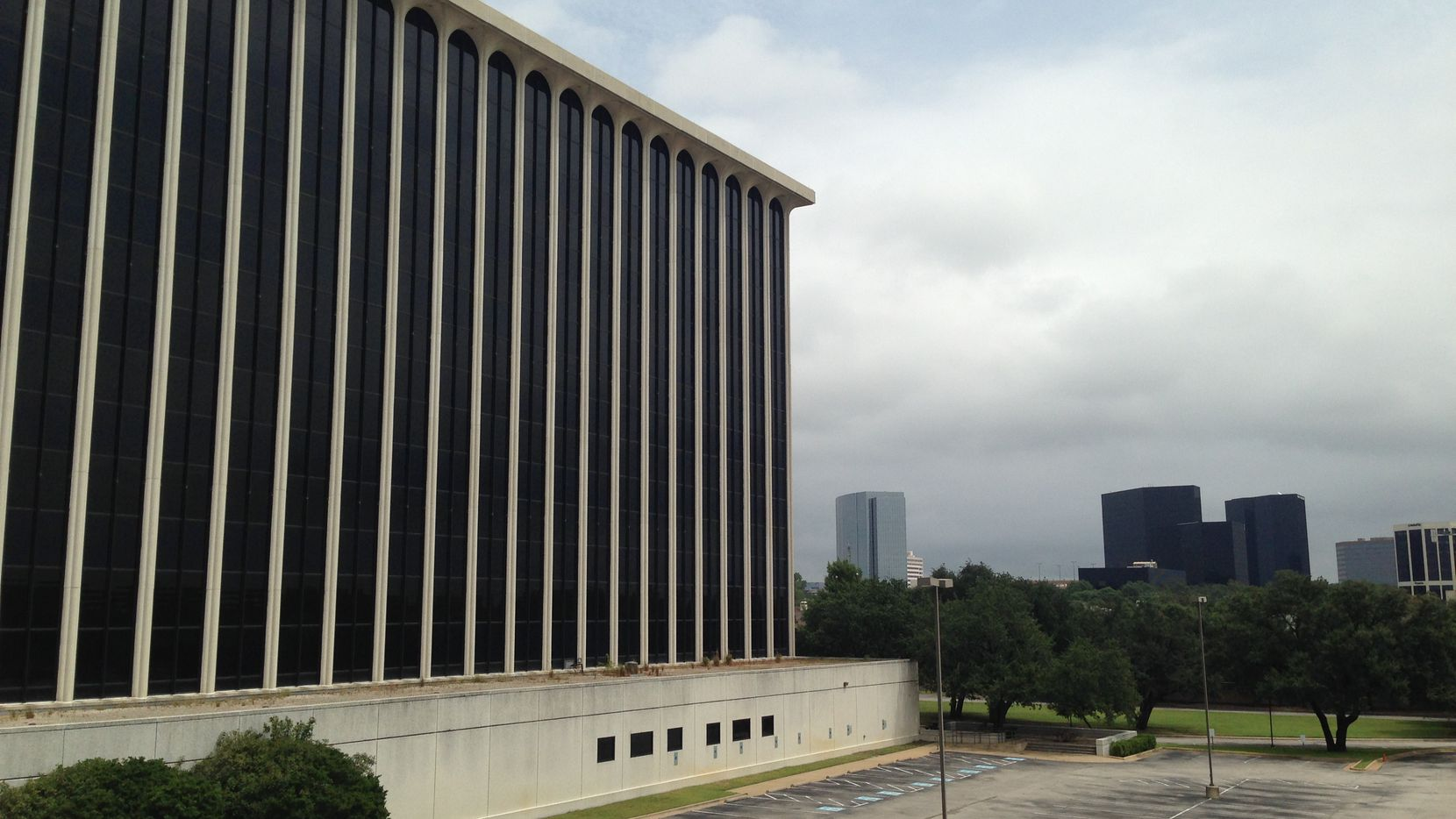 The vacant CompuCom campus was originally built for Electronic Data Systems.
