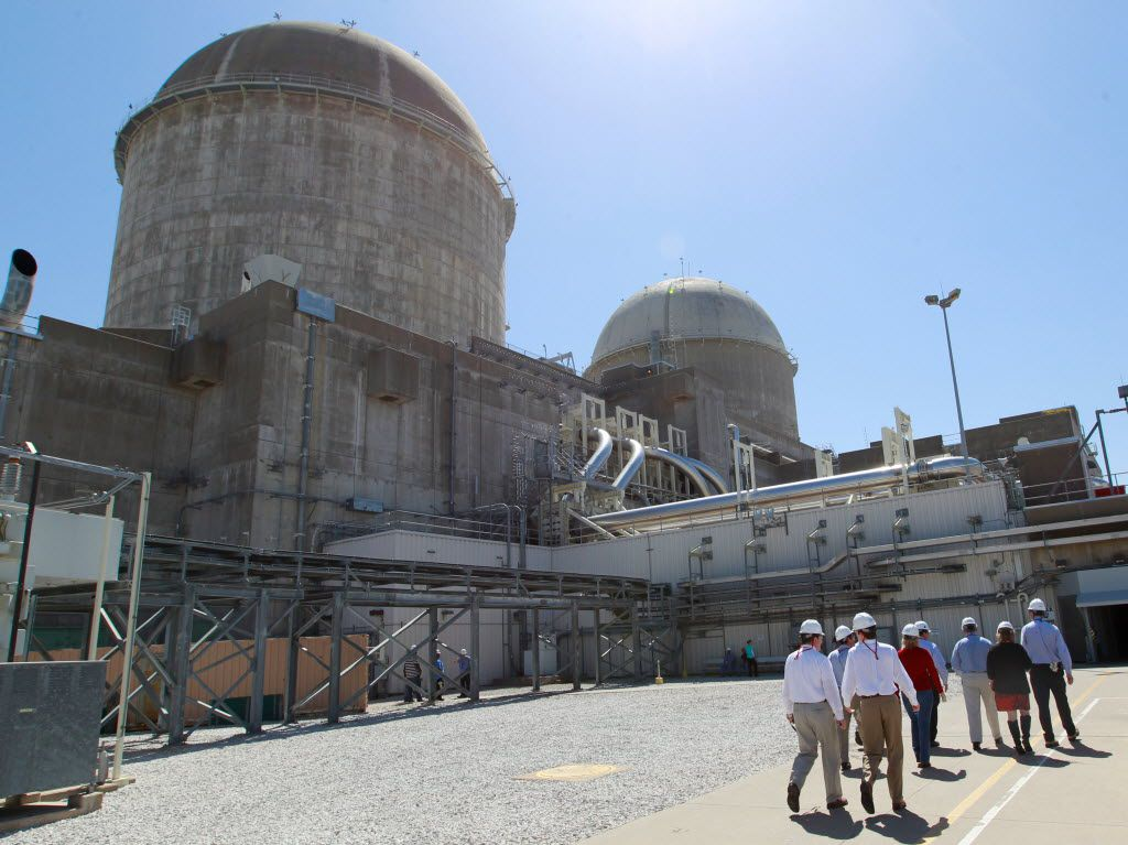 U.S. Rep. Joe Barton  and members of the media tour the Comanche Peak Nuclear Power Plant in Somervell County, near Glen Rose, on March 23, 2011. (Ron Jenkins/Star-Telegram)