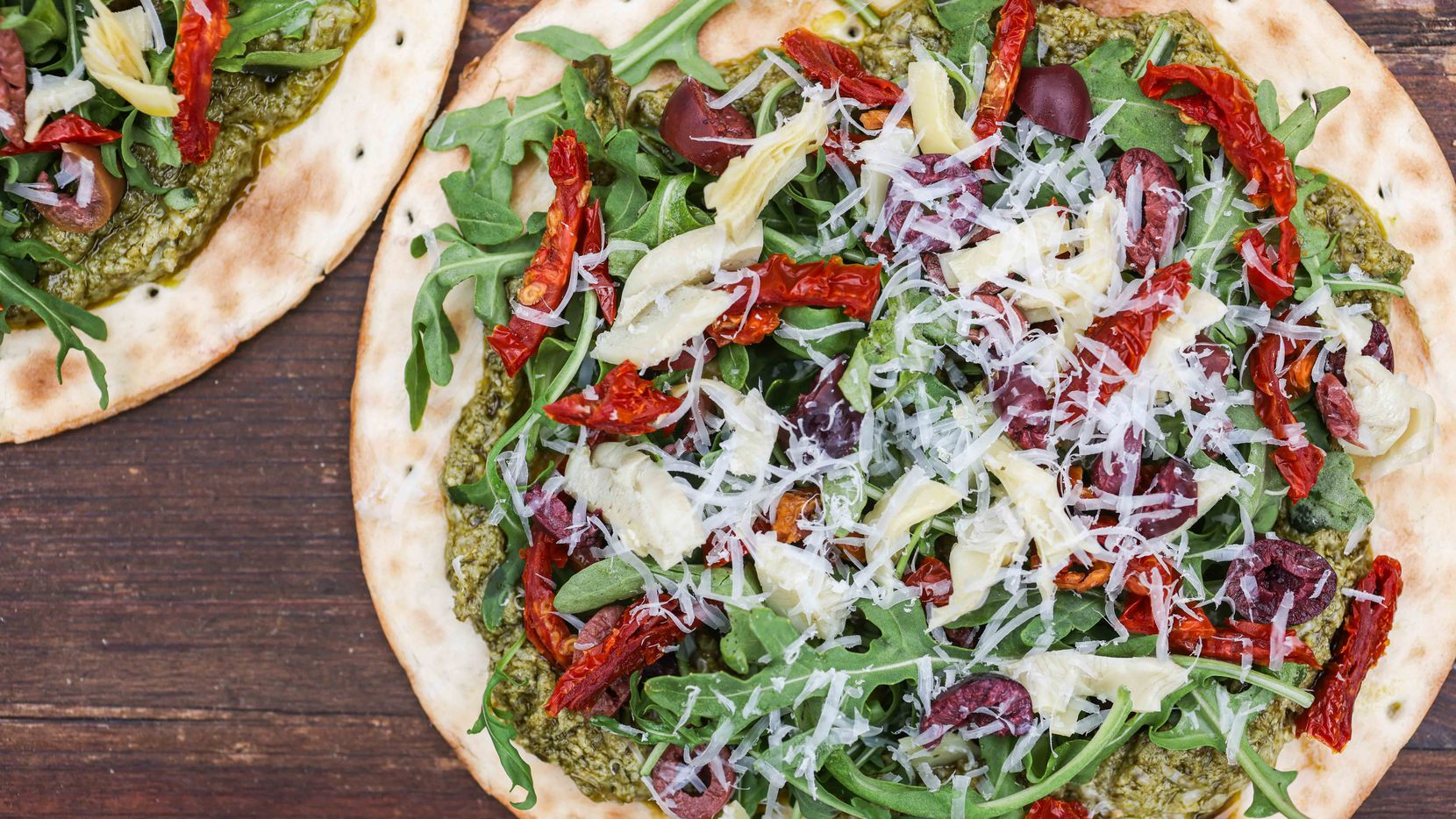 Pesto on Pizza Crust
