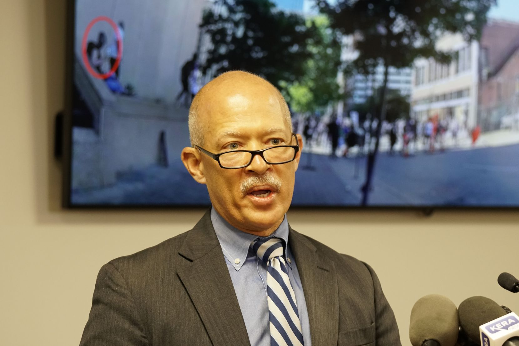 Dallas District Attorney John Creuzot seeks help tracking down images and videos that document injuries that took place during the downtown protests over the summer. He spoke at the Frank Crowley Court House in Dallas, Texas on Thursday Oct. 29, 2020.