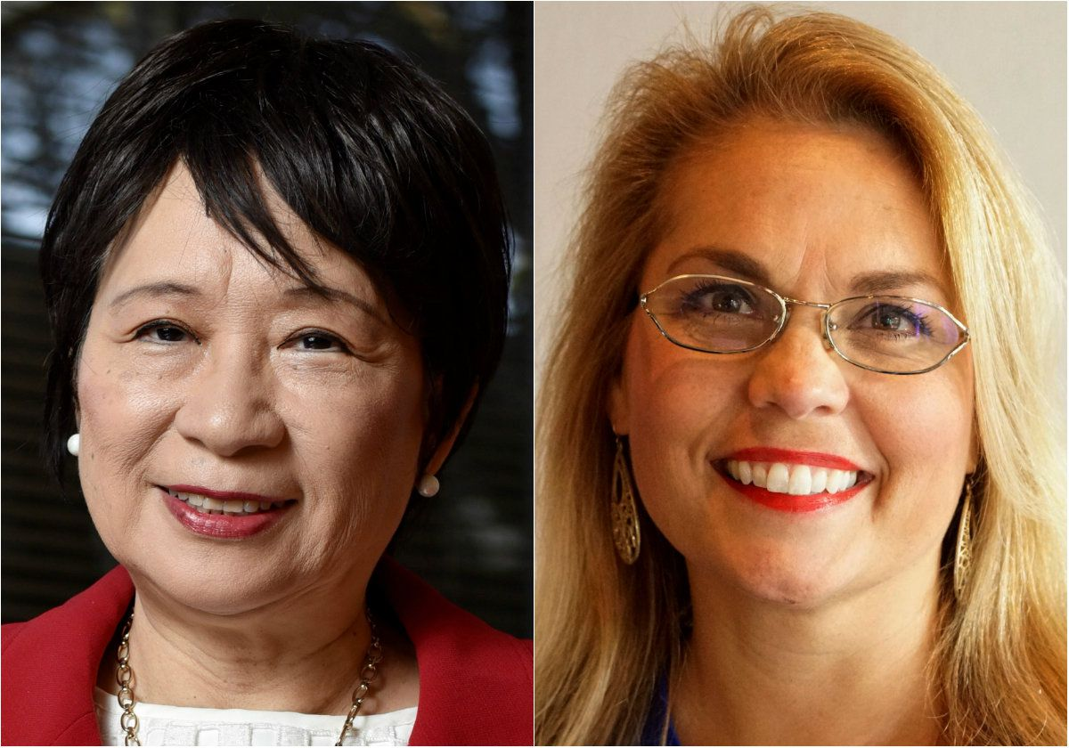 Texas House District 112 candidates Angie Chen Button (left) and Brandy Chambers.