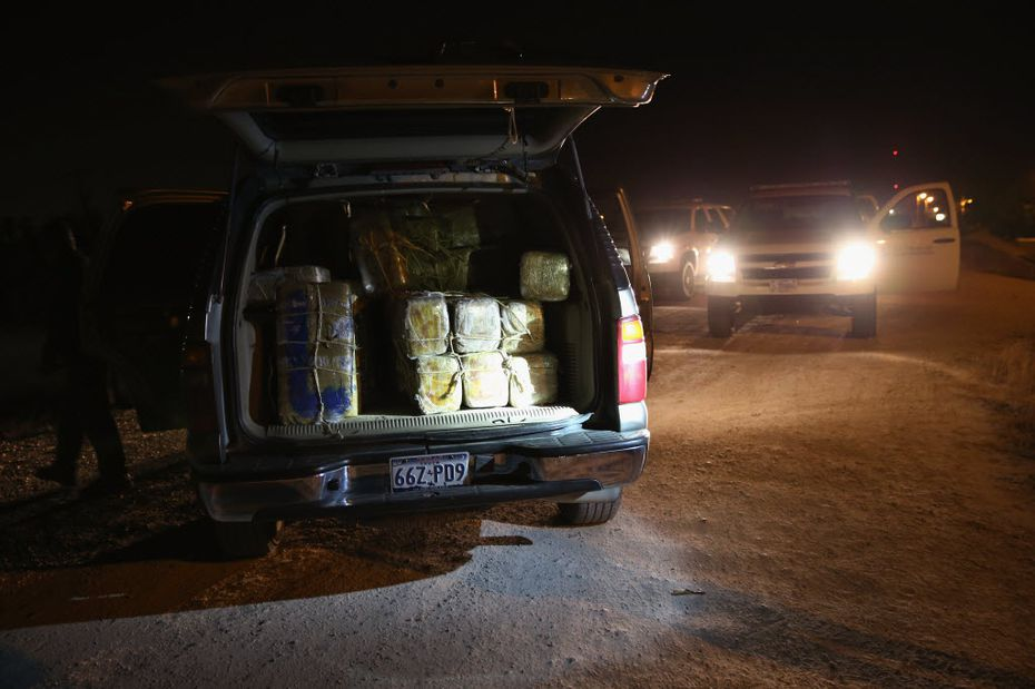 A load of marijuana was seized near the U.S.-Mexico border on April 11, 2013, in Mission, Texas.