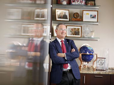 Ken Hersh is CEO of the George W. Bush Presidential Center and a large investor in esports. He is shown in his Dallas office in January.
