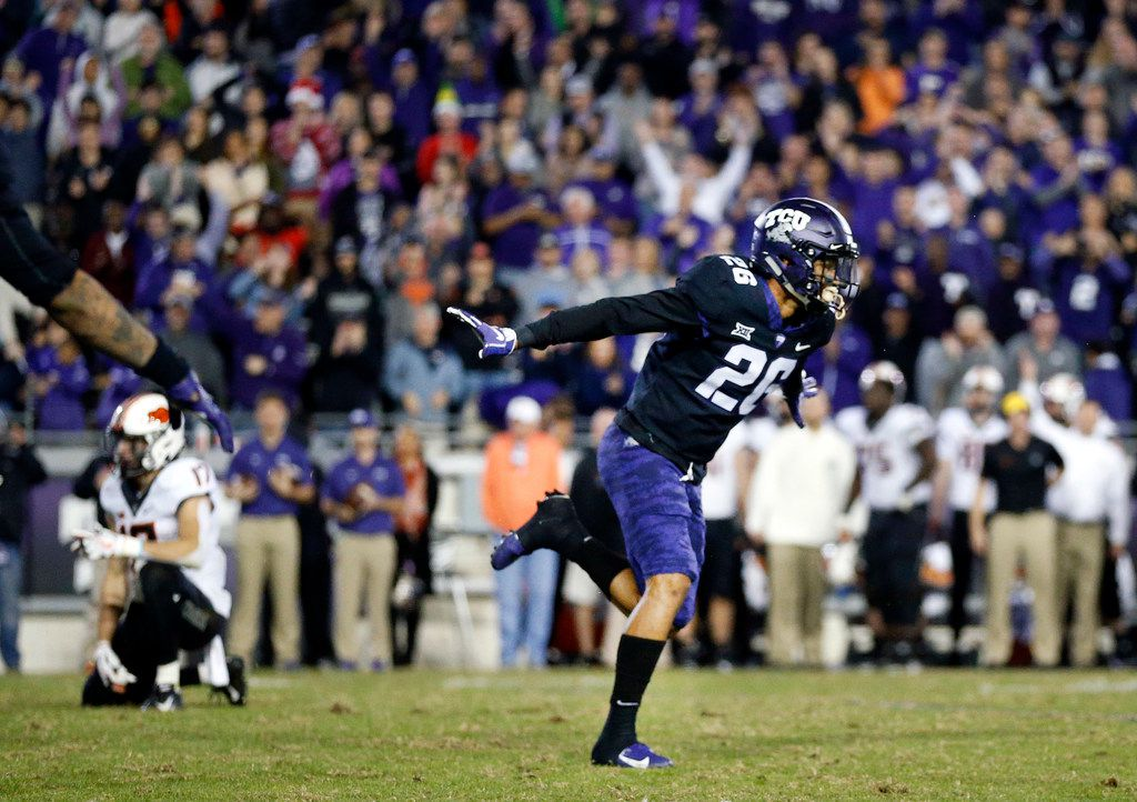 TCU safety Vernon Scott was taken by the Green Bay Packers in the seventh round of the 2020 NFL Draft. (Tom Fox/The Dallas Morning News)