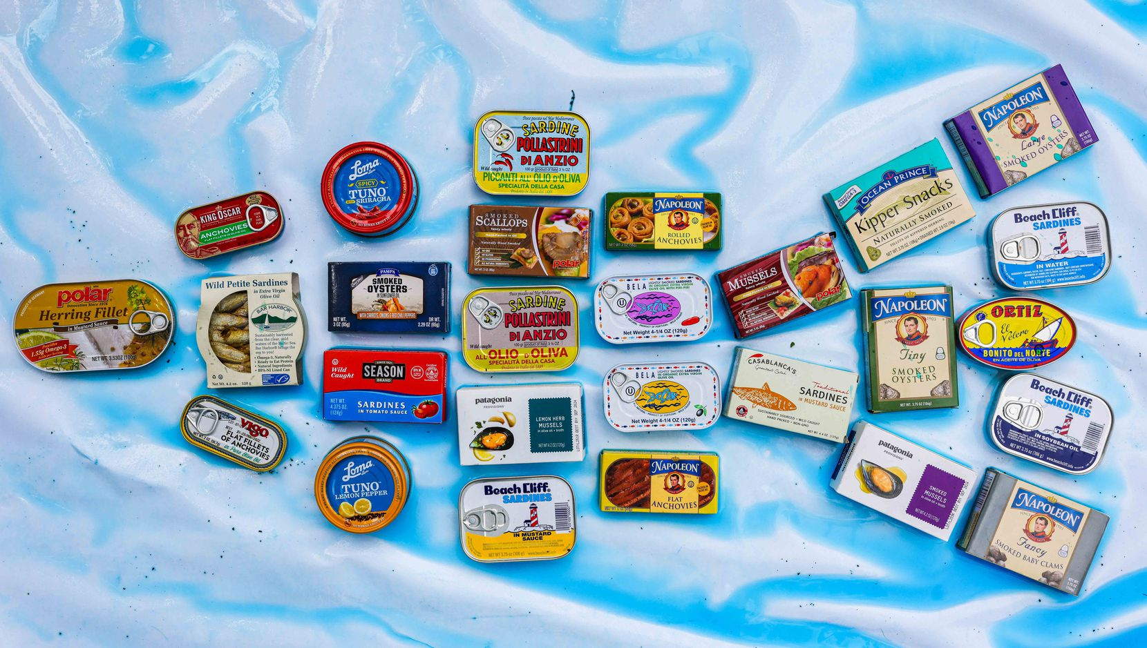 Assorted tinned fish