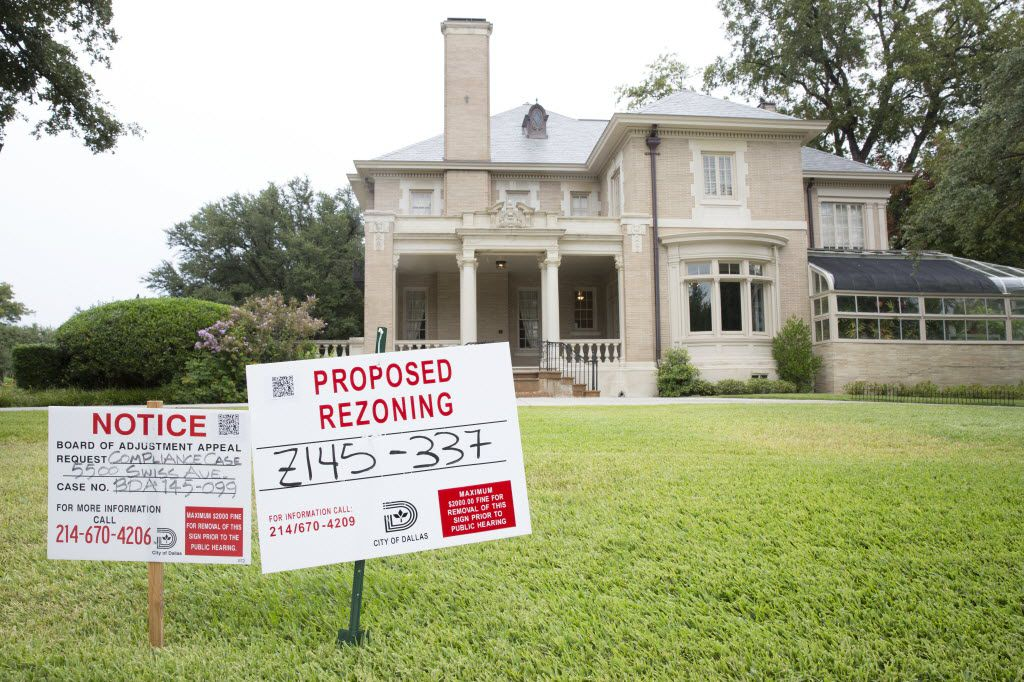 David Dean and wife Jean are involved in efforts to revoke the non-conforming status of the neighboring Aldredge House on Swiss Avenue in Dallas.