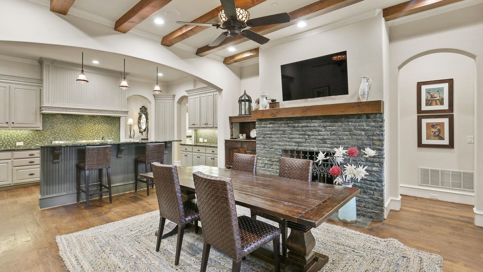 Priced at $1,899,000, the Hawkins-Welwood estate at 5818 Club Oaks Court features a butler's pantry with a wine room, pool, play yard and vegetable garden.