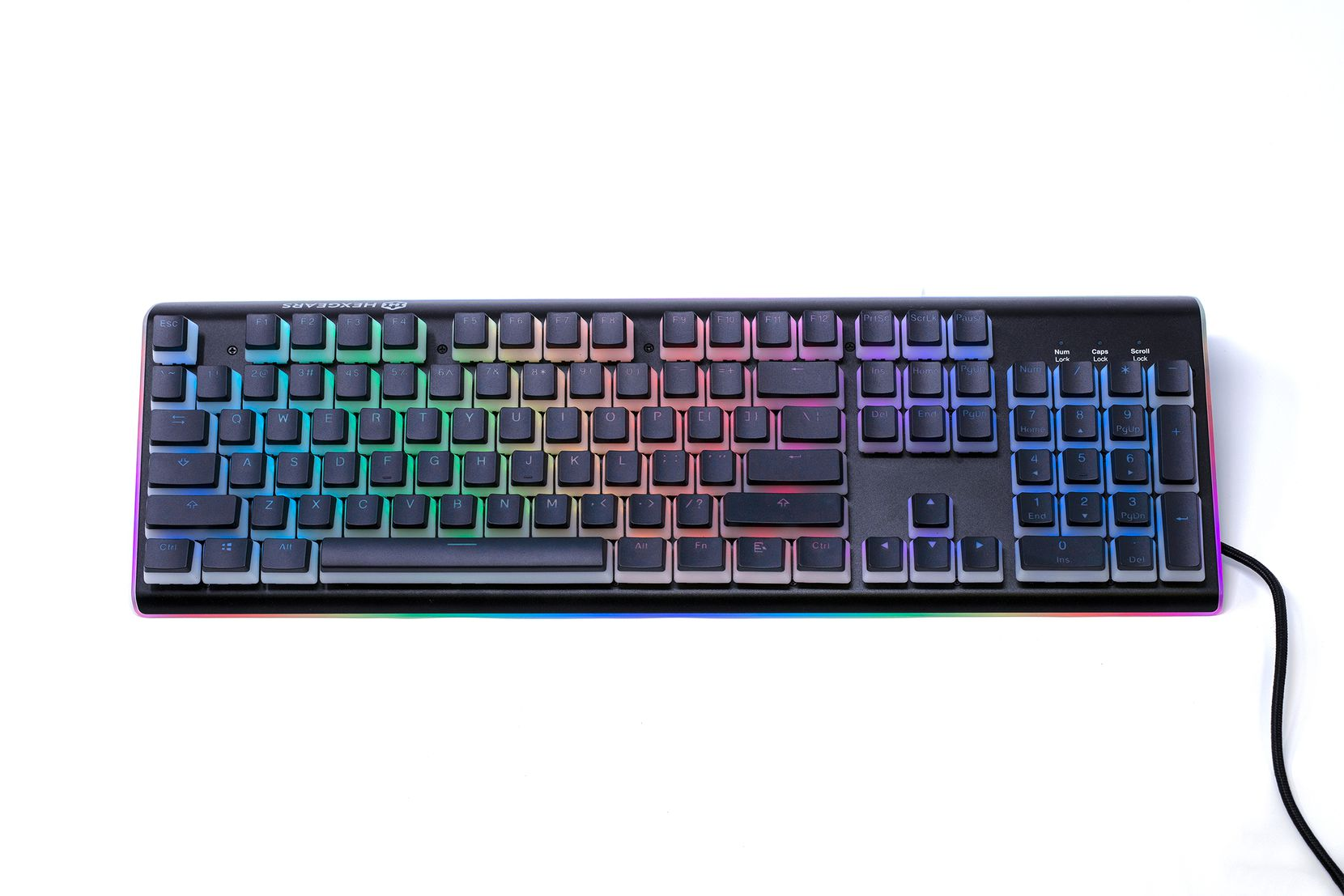 The color back lighting of the keys is intense but can be adjusted.