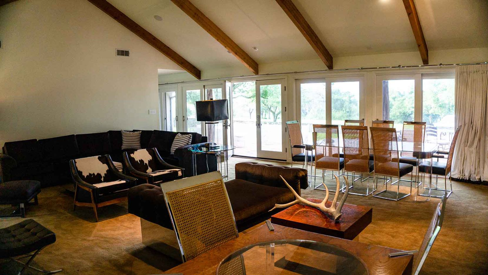 The River Bluff Ranch includes an owner's lodge and smaller homes as well.