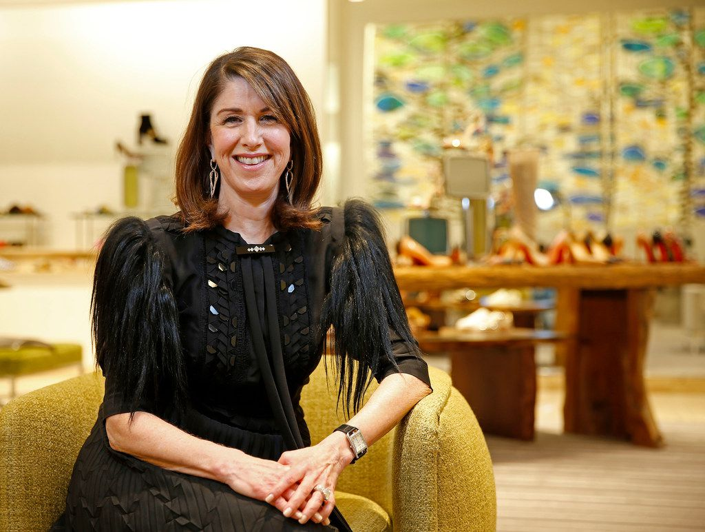 Karen Katz, CEO of the Neiman Marcus Group, poses for a photograph at the store in Dallas, Monday, Feb. 5, 2018. She retire Feb. 12 but stay on as a board member. (Jae S. Lee/The Dallas Morning News)