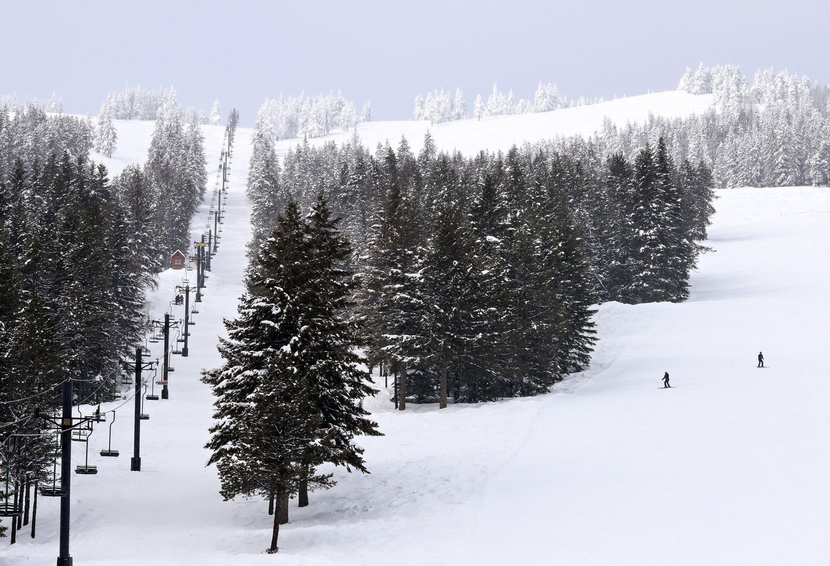 An adult day pass at Turner Mountain is $38, far less than the typical ski resort. Still, it's common for visitors to have the slopes mostly to themselves.