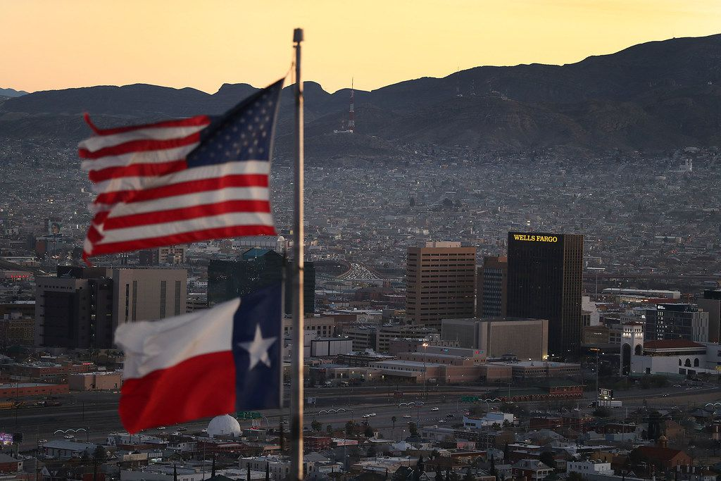 The skyline of El Paso and Ciudad Juarez, Mexico, is seen on Jan. 19, 2019 in El Paso.